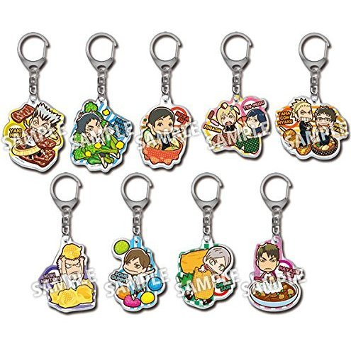 Haikyu!! Acrylic Food Keychain Vol.2 (Set of 10 pieces)