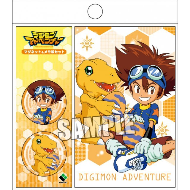 Digimon Adventure Magnet & Memo Set: Taichi & Agumon