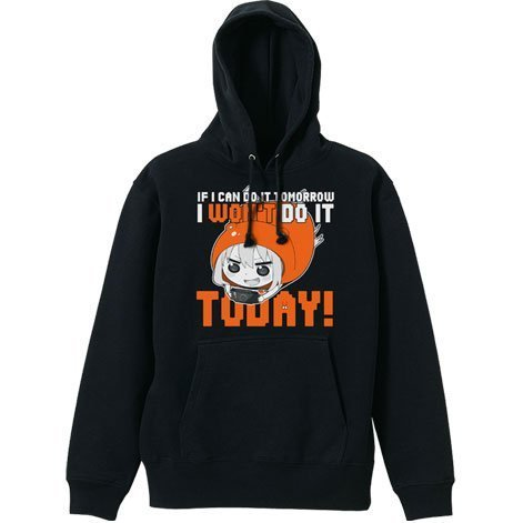 Himouto! Umaru-chan Parka Black M: I Won't Do It Today!