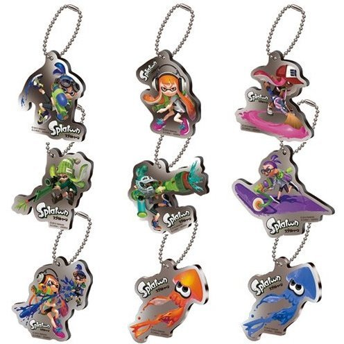 Splatoon Ikashita Inc Ring Plate Swing SP (Set of 16 pieces)