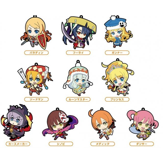 Etrian Mystery Dungeon Trading Rubber Strap (Set of 10 pieces)