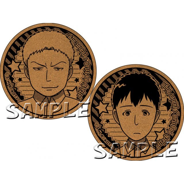 Attack on Titan Junior High Cork Coaster: Reiner & Bertolt