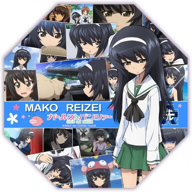 Girls und Panzer Desktop Mini Umbrella: Reizei Mako
