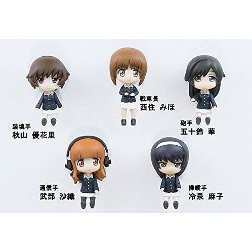 Girls und Panzer Team Ankou Figure Set Panzer Jacket Ver. (Set of 5 pieces)