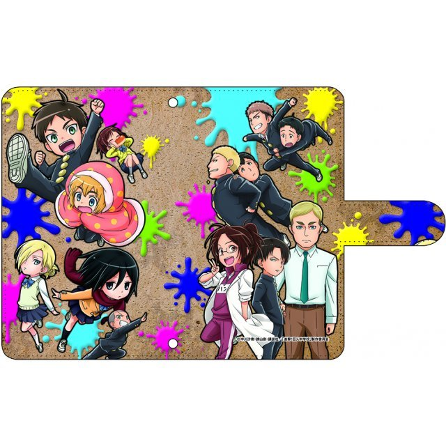 Attack on Titan Junior High Book Type Smartphone Case: POP (S Size)