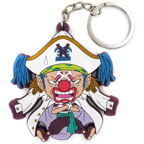 One Piece Tsumamare Keychain: Buggy