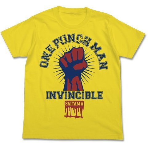 One Punch Man T-shirt Yellow S: One Punch Man College