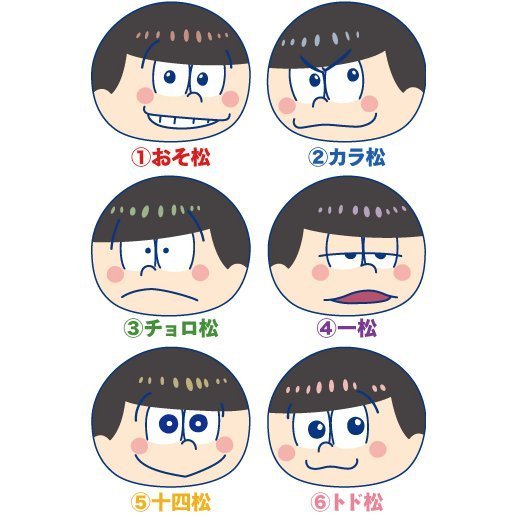 Osomatsu-san Omanjuu Niginigi Mascot (Set of 6 pieces)