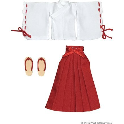 Picconeemo 1/2 Scale Costume: Miko Clothes Set (White x Red)