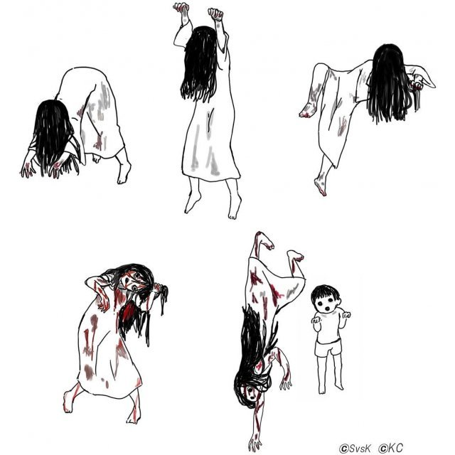 PUTITTO Series Sadako vs Kayako (Set of 8 pieces)