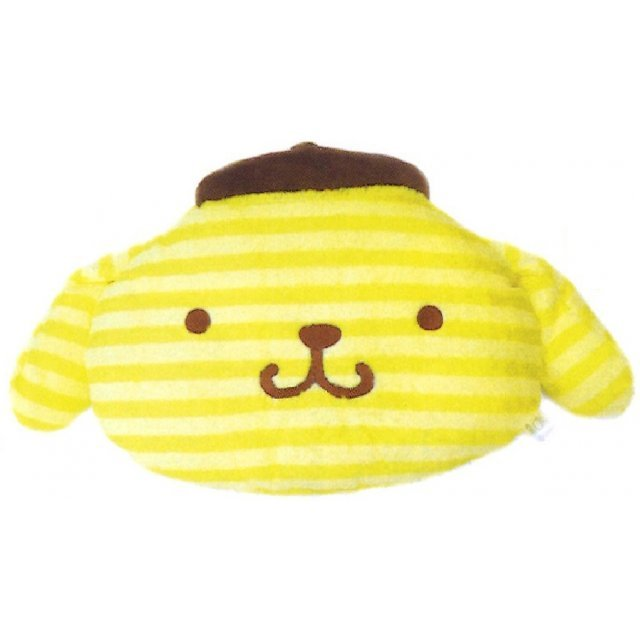 Pom Pom Purin Face Cushion: Boader Purin Series Yellow
