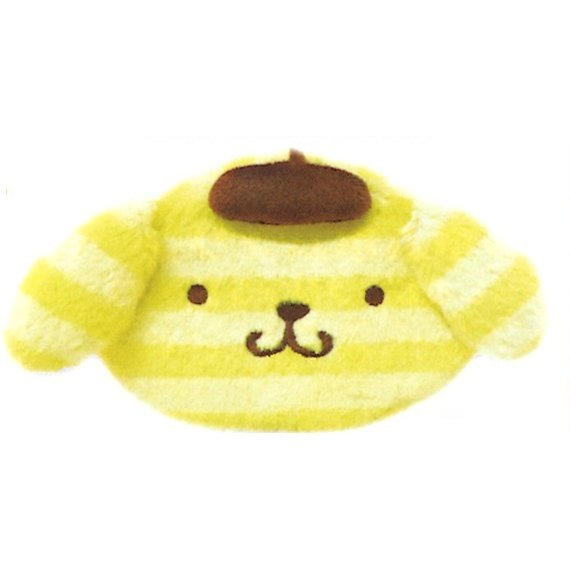 Pom Pom Purin Face Pouch: Boader Purin Series Yellow