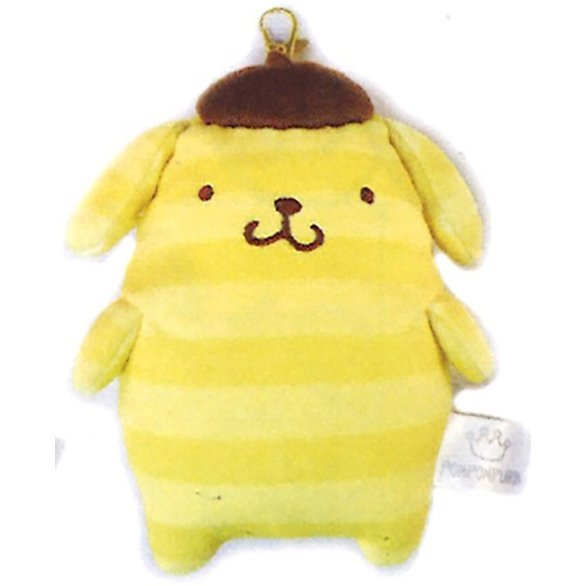 Pom Pom Purin Pass Case: Boader Purin Series Yellow