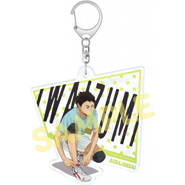 Haikyu!! Second Season Acrylic Big Key Chain Stand-by: Iwaizumi