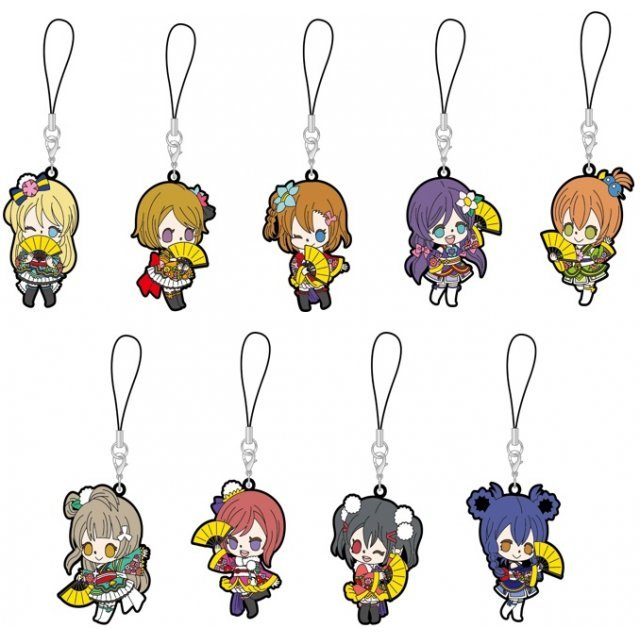 Love Live! The School Idol Movie Rubber Strap Angelic Angel Ver. (Set of 9 pieces)
