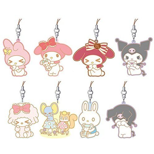 My Melody ViVimus Rubber Strap Collection Heisei Box (Set of 8 pieces)