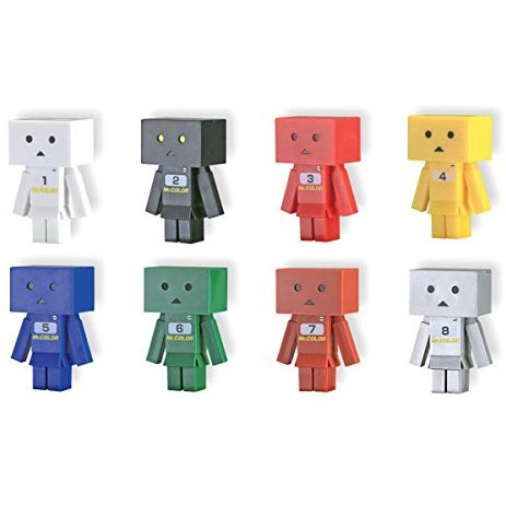 Yotsuba&! Trading Figure: Capsule Danboard Mr. Color Basic Color Ver. 1 (Random Single)