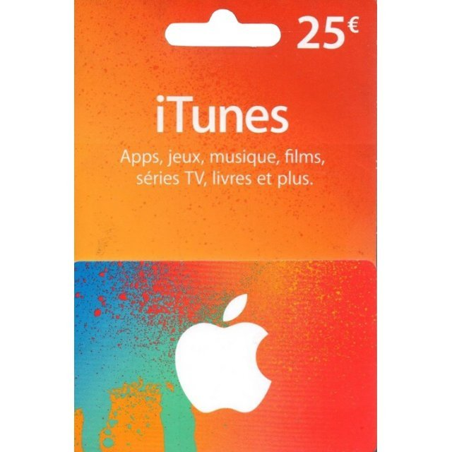iTunes Card (EUR 25 / for FR accounts only)