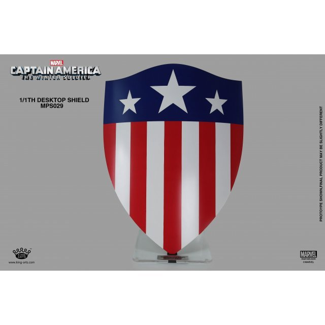 King Arts 1/1 Movie Props Series Captain America The Winter Soldier: Triangle Shield (Pedestal Style)