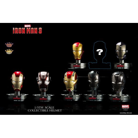 King Arts Iron Man 1/5 Deluxe Helmet Series 1 (Set of 8 pieces)