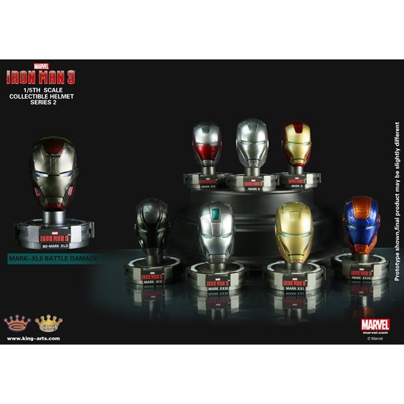King Arts Iron Man 1/5 Deluxe Helmet Series 2 (Set of 8 pieces)