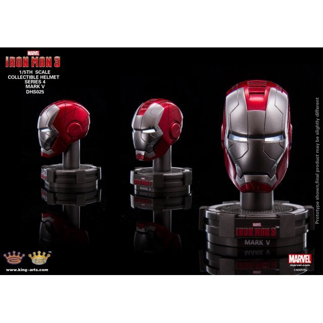 King Arts Iron Man 3 1/5 Deluxe Helmet Series 4 (Set of 8 pieces)
