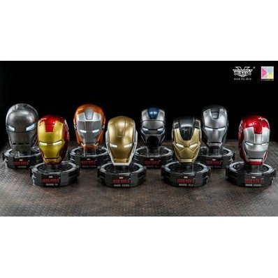 King Arts Iron Man 3 1/5 Deluxe Helmet Series 6 (Set of 8 pieces)