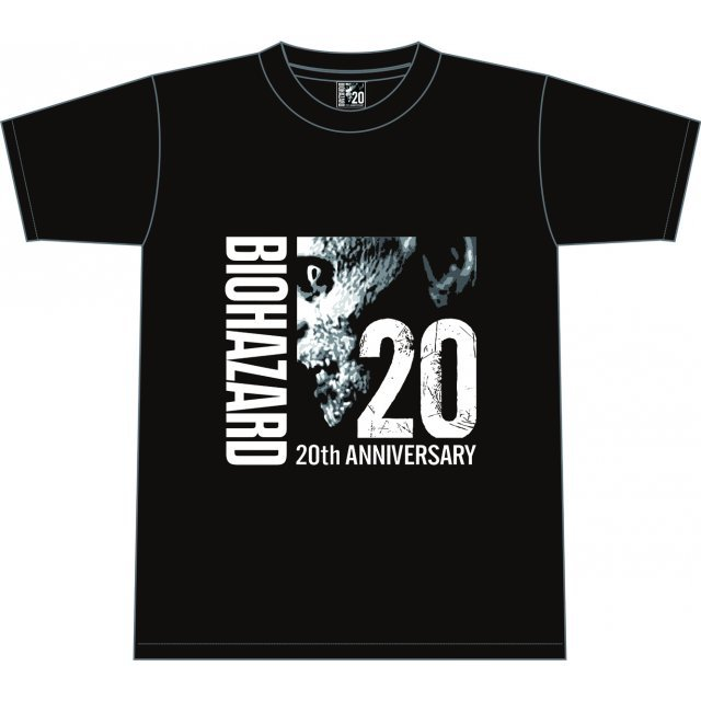 Biohazard 20th Anniversary T-shirt Black (L Size)