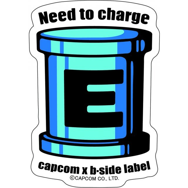 CAPCOM x B-SIDE LABEL Mega Man Sticker: E Can