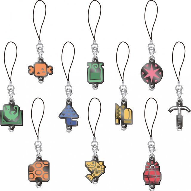 Monster Hunter X Item Icon Strap Charm Collection (Set of 10 pieces)
