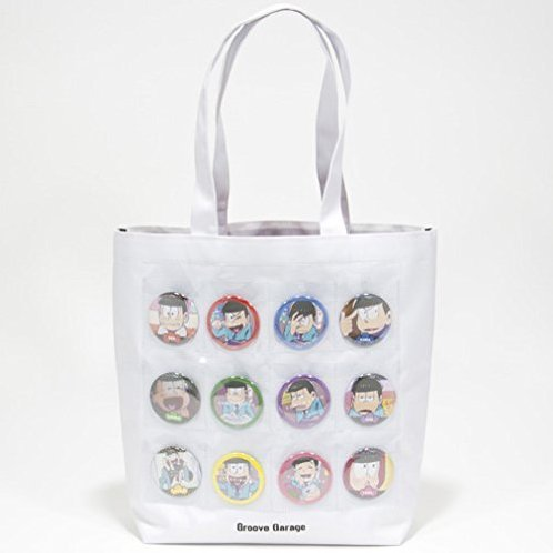 Osomatsu-san Can Badge Pocket Tote Bag
