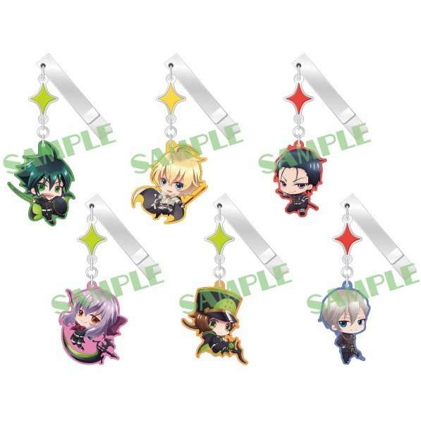 Seraph of the End Yurayura Clip Collection (Set of 6 pieces)
