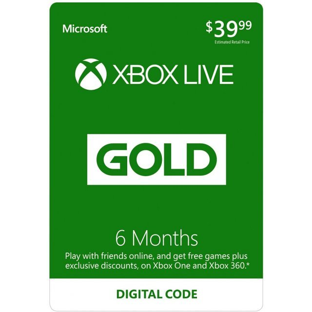 Xbox Live Gold 6+1 Month Membership GLOBAL
