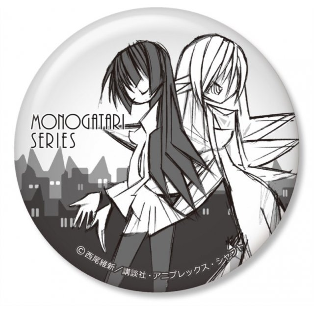 Monogatari Series Can Badge: Bakemonogatari Ver.