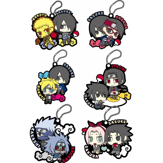 Naruto Shippuden Rubber Mascot: Sasuke Special! (Set of 6 pieces)