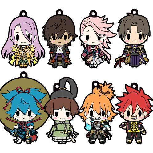 D4 Touken Ranbu -Online- Rubber Strap Collection Vol.5 (Set of 8 pieces)