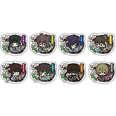 Hakuouki the Movie Clear Brooch Collection (Set of 8 pieces)