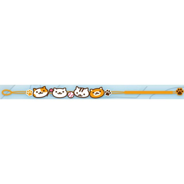 Neko Atsume Embroidery Bracelet: Orange