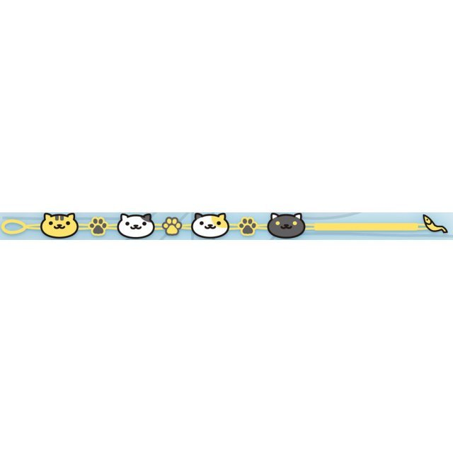 Neko Atsume Embroidery Bracelet: Yellow