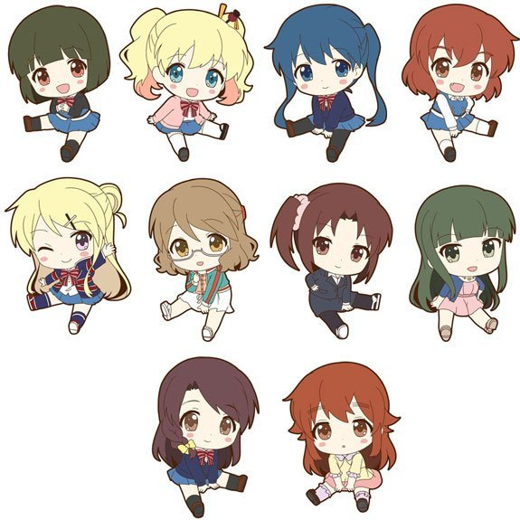 Hello!! Kiniro Mosaic Petanko Trading Rubber Strap (Set of 10 pieces)