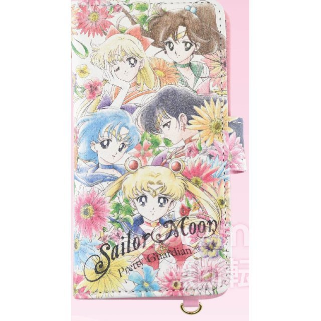 Sailor Moon Botanical Design Generalized Book Type Smartphone Cover: M Sailor 5 Soldiers