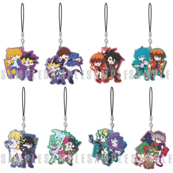 Yu-Gi-Oh! Series Pair Clear Rubber Strap (Set of 8 pieces)
