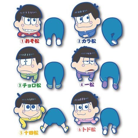 Osomatsu-san Ride Rubber Clip (Set of 6 pieces)