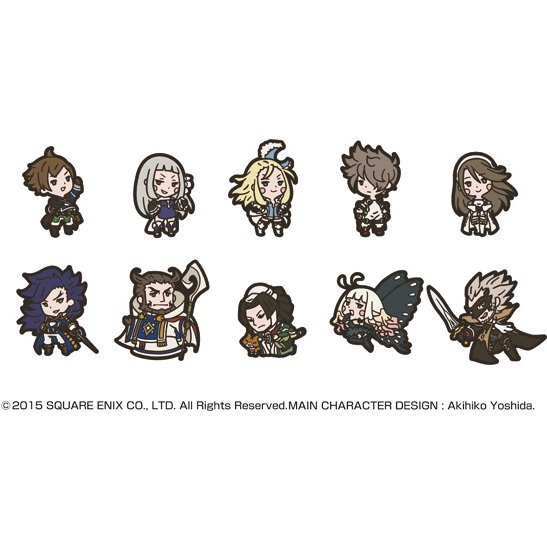 Bravely Second: End Layer Rubber Strap (Set of 10 pieces)