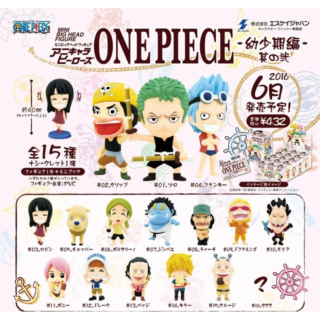 Anime Chara Heroes One Piece: Early Life Ver. Vol. 2 (Set of 15 pieces)