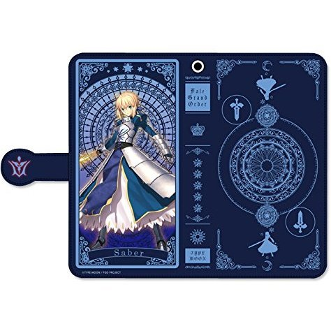 Fate/Grand Order Book Type Smartphone Case: Saber / Artoria Pendragon