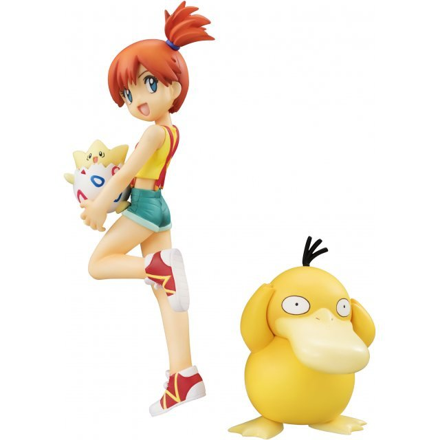 G.E.M. Series Pocket Monsters Pre-Painted Figure: Misty & Togepi & Psyduck