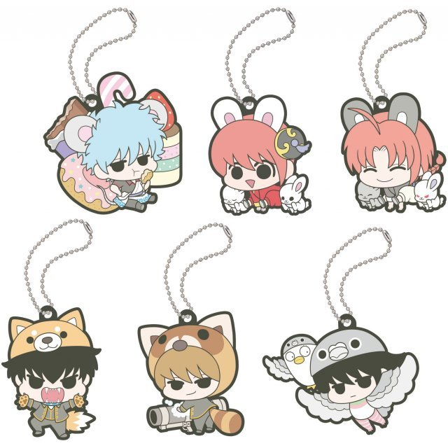 Gintama Rubber Mascot: Prince Hata Animal Paradise (Set of 6 pieces)