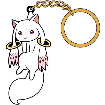 Puella Magi Madoka Magica The Movie Part 3 Rebellion Tsumamare Key Ring: Kyubey
