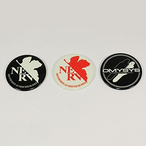 Rebuild of Evangelion High Luminous Sticker for Smartphone 3 Set